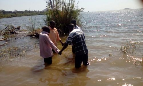 doing baptism in Kenya