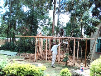 Building New Structure in Kenya