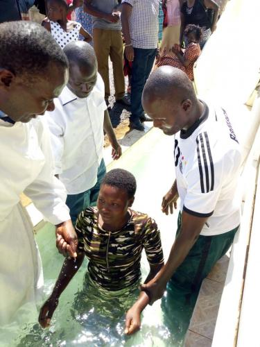 Young Kenyan Baptized